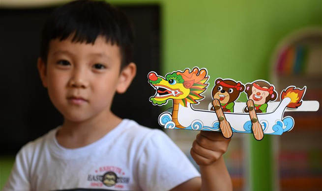 Kindergarten in Hebei holds activity to greet Dragon Boat Festival