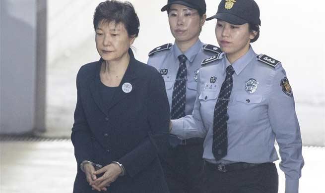 S. Korea former President Park Geun-hye arrives for trial in Seoul