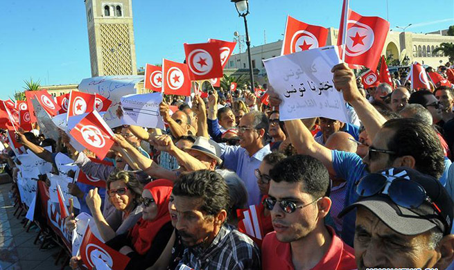 Tunisian people support PM to combat corruption in Tunis