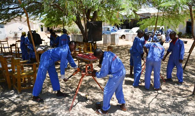 Vocational training courses offered to Somalian children and teenagers