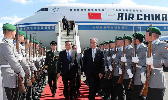Chinese premier arrives in Germany for official visit
