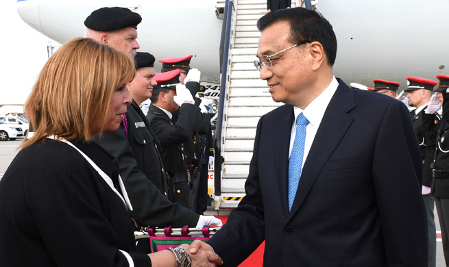 Chinese premier arrives in Brussels for China-EU leaders' meeting