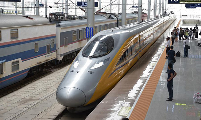 Baoji-Lanzhou high-speed railway starts test runs of whole line