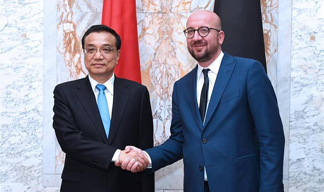 Chinese premier holds talks with Belgian PM in Brussels