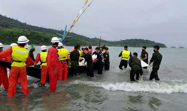 29 human bodies discovered after plane crashes into sea in Myanmar