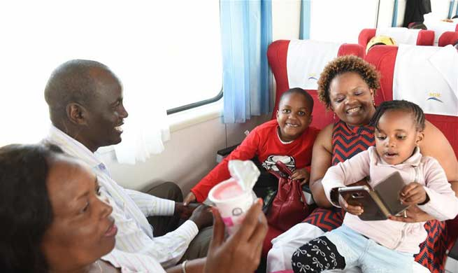 Nearly 12,000 passengers travel on Kenya's newly launched SGR
