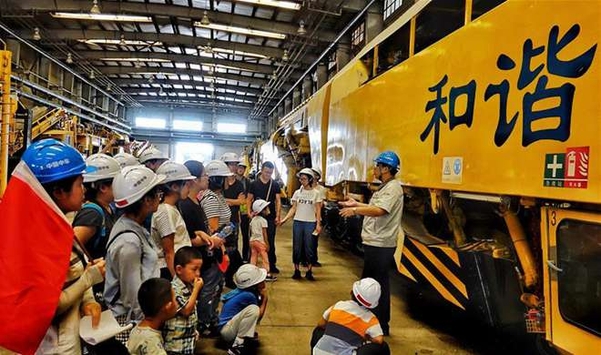 120-year-old locomotive company holds open day in Beijing