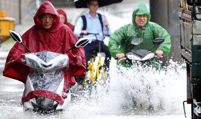 Red alert for rainstorm in China's Nanjing City
