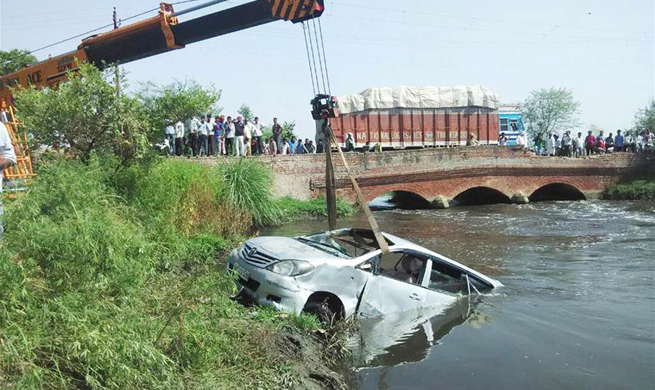 10 killed as car falls into canal in northern India
