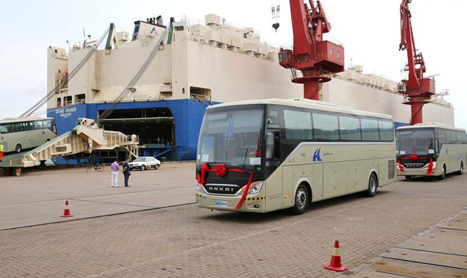 600 buses exported to Saudi Arabia from east China's Lianyungang port