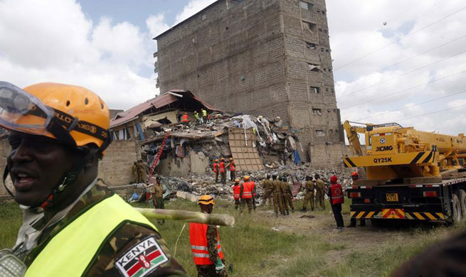 15 missing after building collapses in Kenya