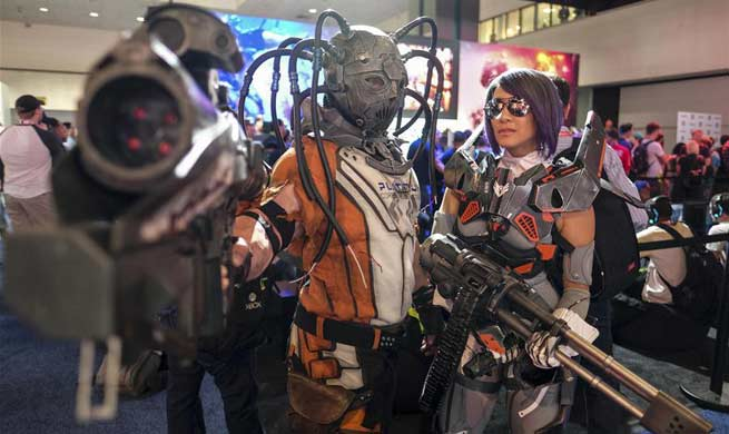People visit Electronic and Entertainment Expo in Los Angeles