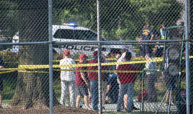 U.S. House Majority Whip among others shot at congressional baseball practice