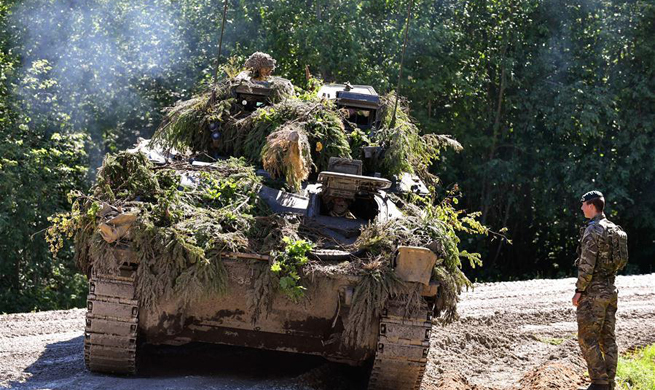"Soldiers participate in ""Saber Strike 2017"" exercise in Estonia"