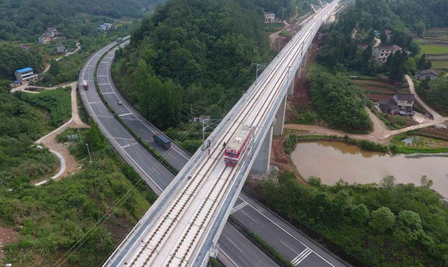 High-speed railway linking Xi'an and Chengdu to be put into operation