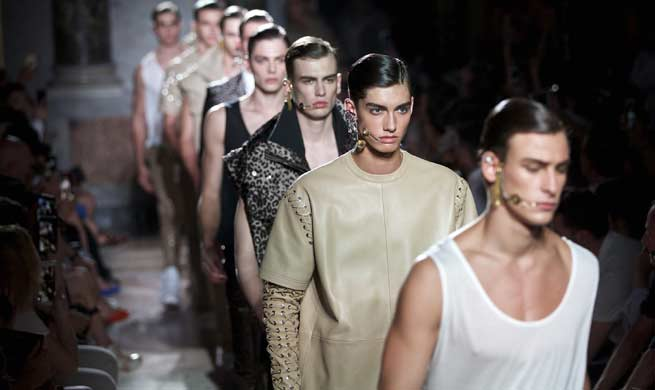Les Hommes show held at Milan men's Fashion Week