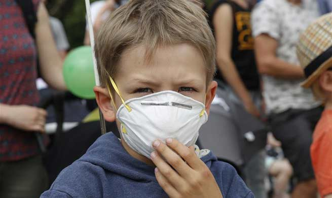 Protesters rally for better air quality in front of EU headquarters