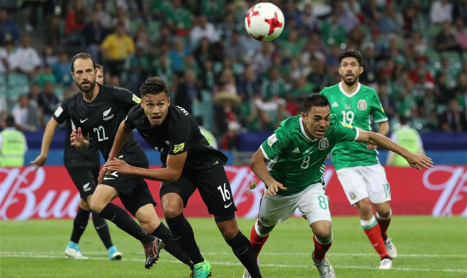 FIFA Confederations Cup: Mexico beats New Zealand 2-1
