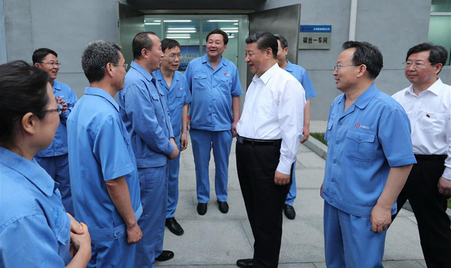 Xi inspects enterprises in Shanxi, north China