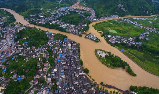 Heavy rain hits Hunan, C China