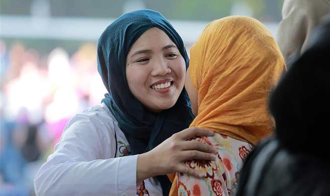 Muslims celebrate Eid al-Fitr festival