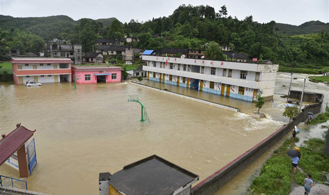 Various parts in China suffer from flood after heavy rainfall