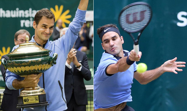 Roger Federer claims title of Gerry Weber Open
