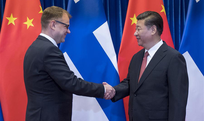 Chinese president meets Finnish PM on strengthening cooperation