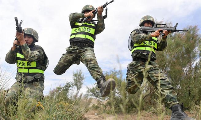 China, Kyrgyzstan hold anti-terror drill in Xinjiang