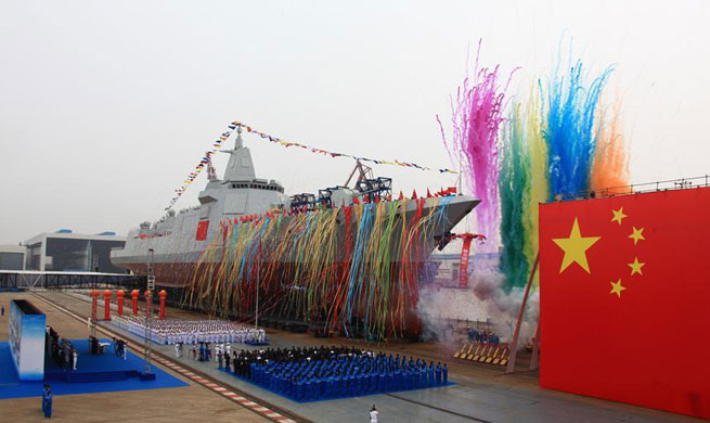 China launches new destroyer