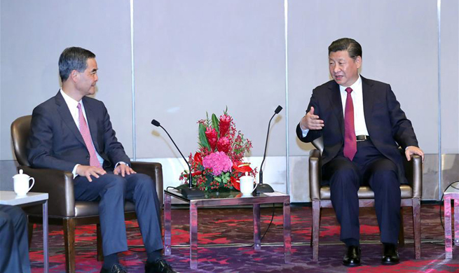 President Xi meets HKSAR chief executive