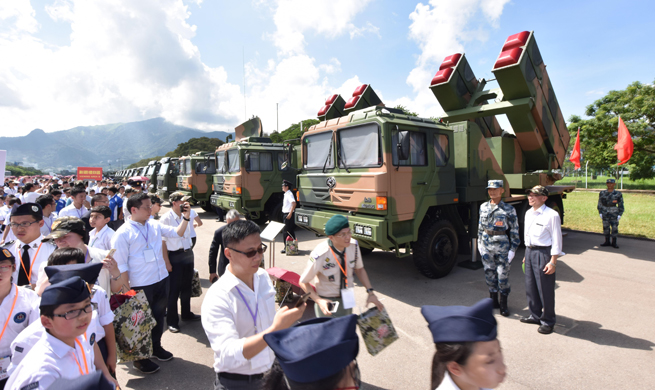 Local residents visit Shek Kong barracks of PLA Garrison in HK