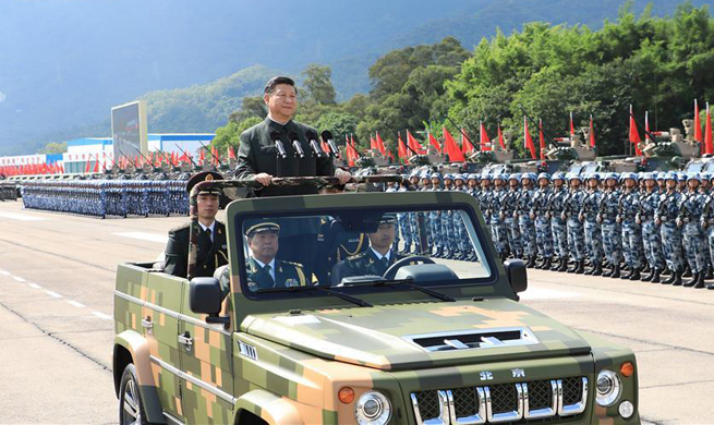 China Focus: Xi inspects PLA garrison in Hong Kong