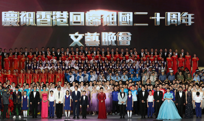 Evening gala held to celebrate 20th anniv. of HK's return to motherland
