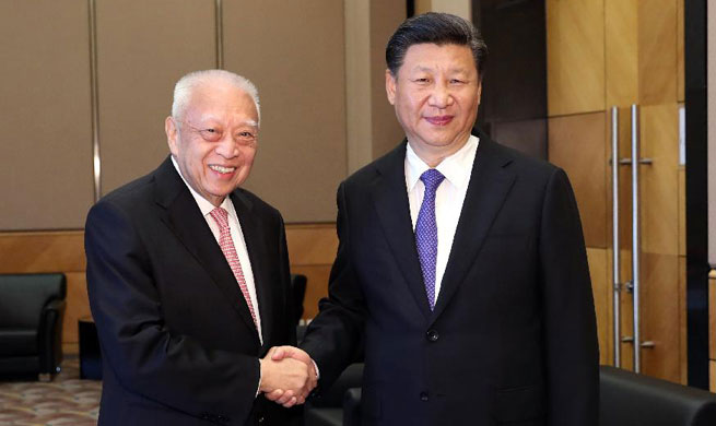 Xi meets former HK chief executive Tung Chee-hwa