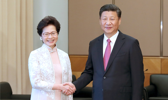 Xi expresses confidence in new HK chief executive