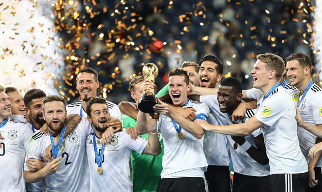 Germany beats Chile 1-0 at FIFA Confederations Cup