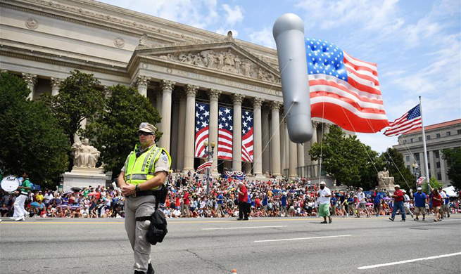 U.S. holds parade to celebrate Independence Day