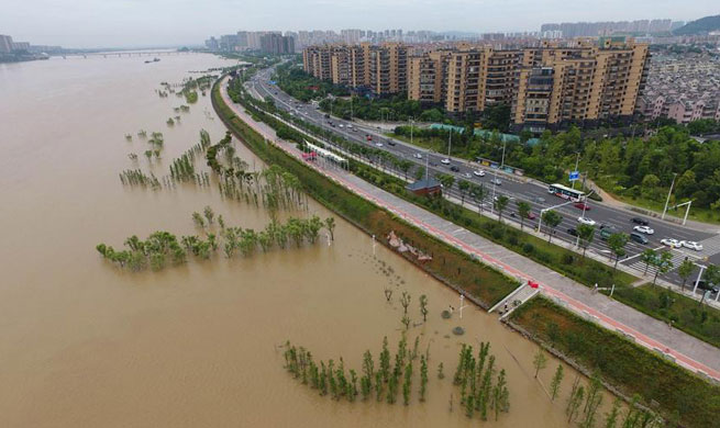 Flooded area in C China's Hunan