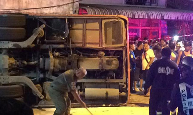 2 Chinese tourists killed, 24 injured in Thailand tour bus accident