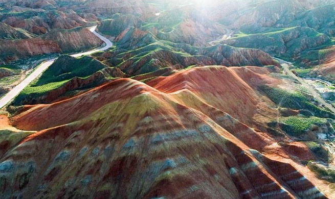 Amazing scenery of Danxia National Geological Park in China's Gansu