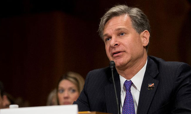 New FBI director attends hearing on nomination