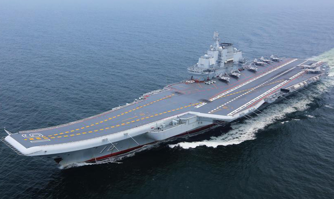 Chinese aircraft carrier formation conducts coordination training