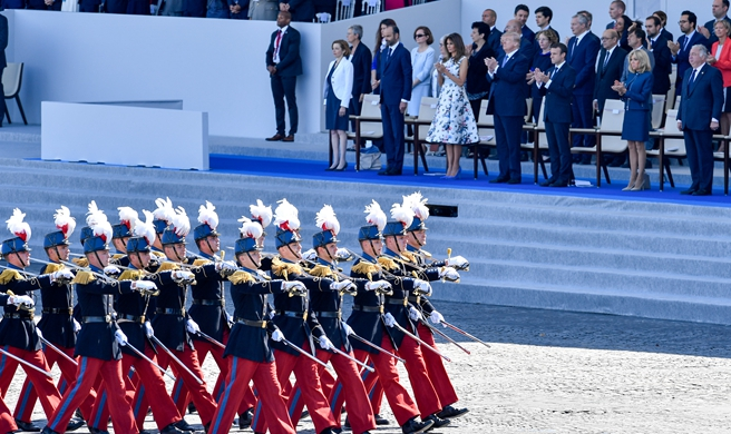 France's Macron honors U.S. forces in Bastille day celebration