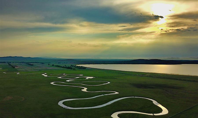 Scenery of Shandianhe National Wetland Park in N China's Hebei