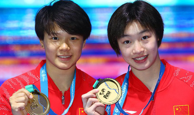 China wins 3m springboard synchro gold at FINA World Championships
