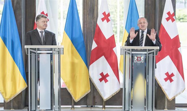 Ukraine, Georgia vow to work closely on defense