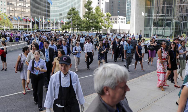 Around 2,000 people evacuated from UN headquarters after fire alarm