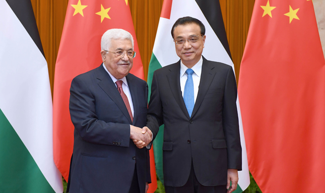 Chinese premier meets with Palestinian president in Beijing