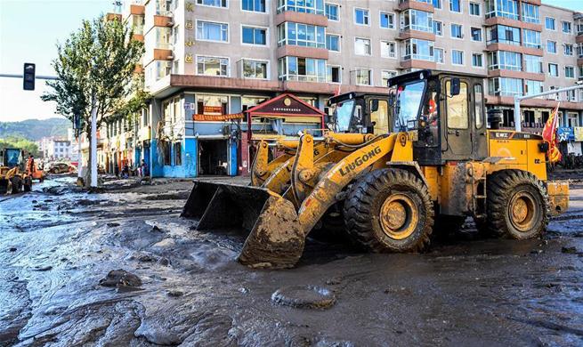 Rebuilding, restoration work begins in NE China's Jilin after severe flood